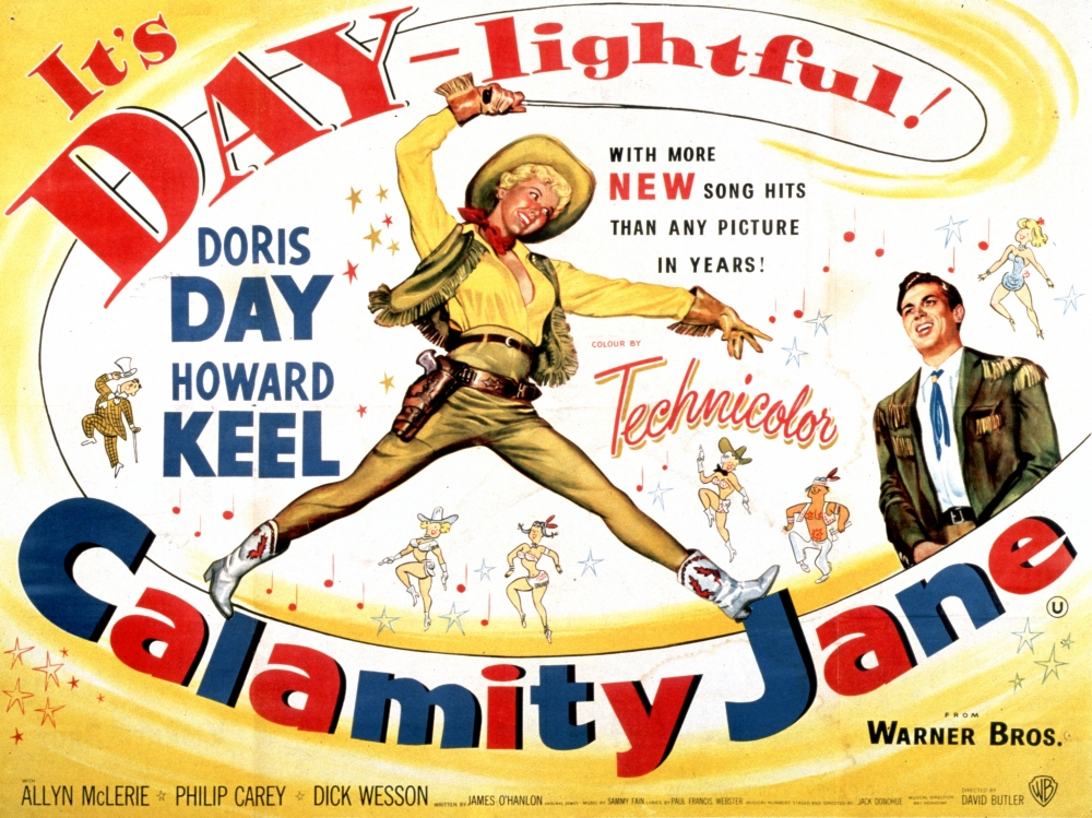 Image result for calamity jane film poster