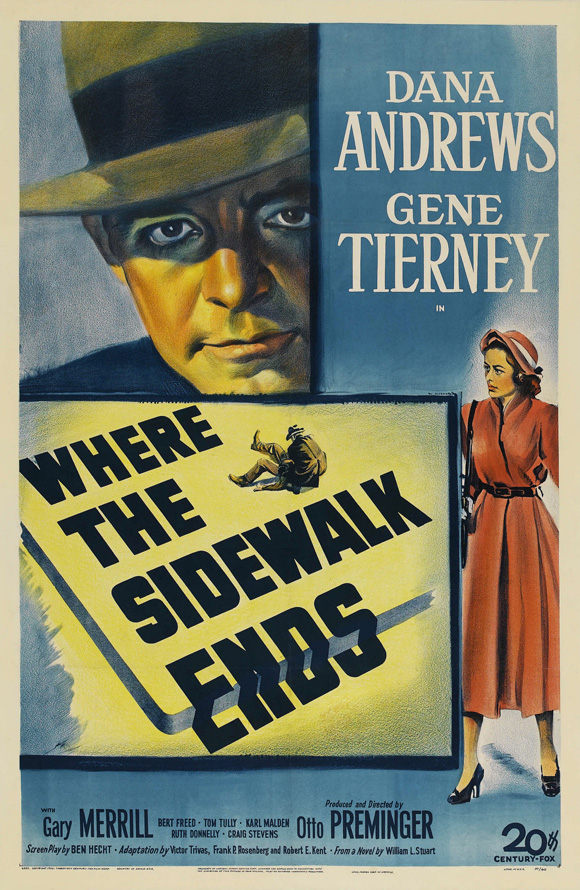 Where The Sidewalk Ends 1950 Journeys In Classic Film