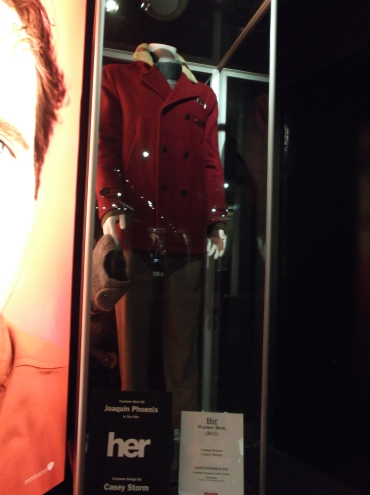 Joaquin Phoenix's costume from Her on display at the Hollywood Museum
