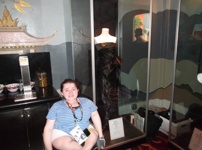 Me and Rita Hayworth's dress from Gilda on display at the TCL Chinese Theater