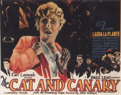 Image result for the cat and the canary 1927